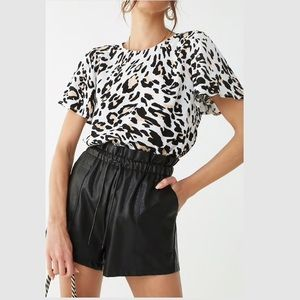Leopard Blouse Work Top NWT